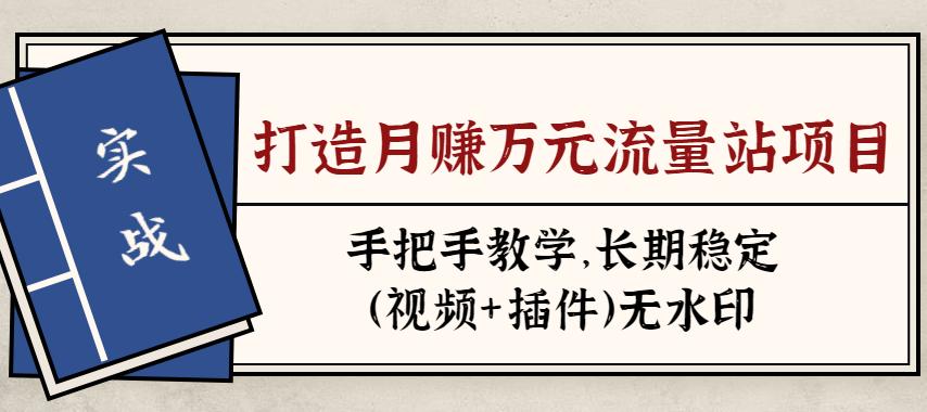 张子豪流量站实战项目:手把手教学,长期稳定流量