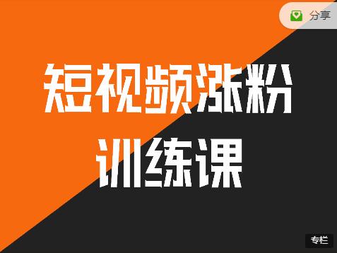 老王 · 鹤老师:抖音短视频涨粉营销训练营