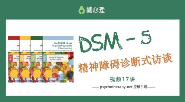 糖心理:咨询师刚需课第二期DSM-5精神障碍诊断式访谈(完整17讲 )