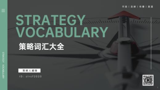 策略人藏锋广告营销策略词汇宝典,电子版pdf